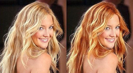改变头发颜色的照片