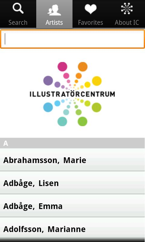 Illustratörcentrum- screenshot
