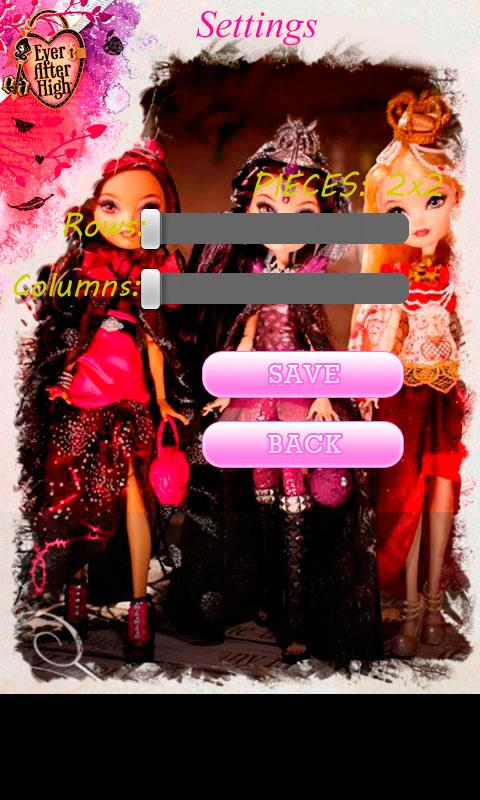 Ever After High Puzzle - screenshot