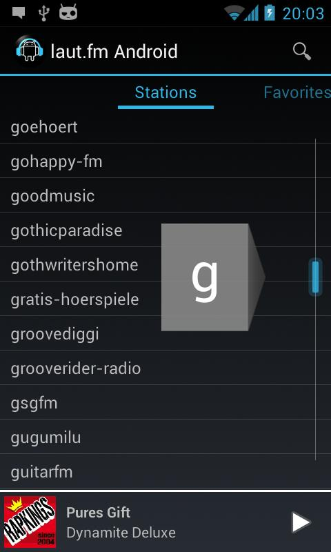 laut.fm Android- screenshot
