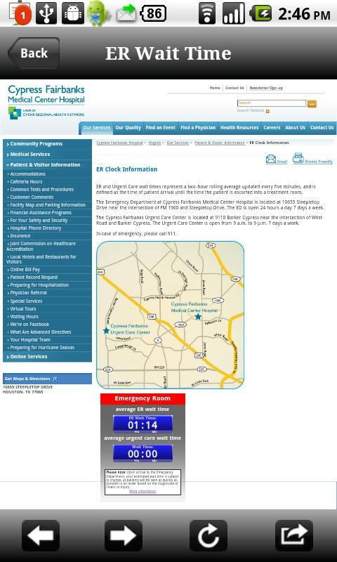 Cypress Fairbanks Medical- screenshot