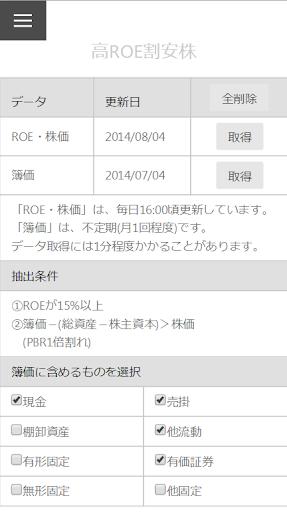 高ROE割安株