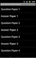 Screenshot of MATHEMATICS EXAM PAPERS