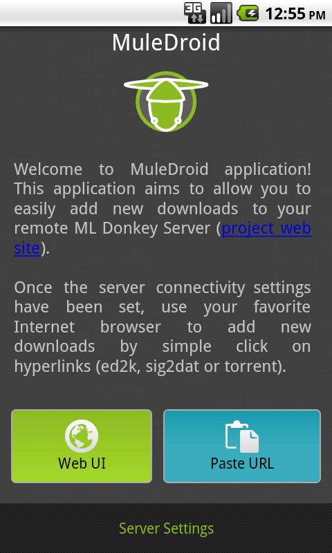 MuleDroid - screenshot