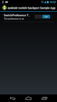Screenshot of switch-backport Sample