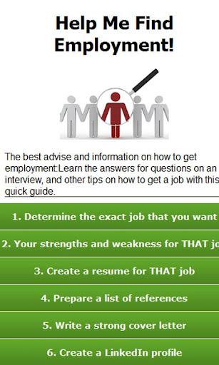 【免費財經App】Help me find employment-APP點子