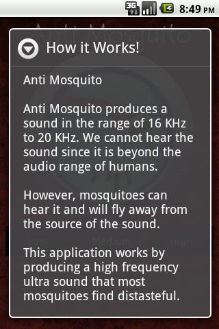 Anti Mosquito Sonic Repellent - screenshot