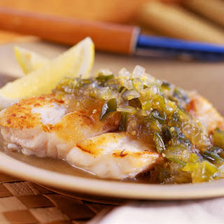 Grouper with Tomatillo-and-Green Chile Chutney.