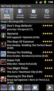 MyTunes Music Player Lite- screenshot thumbnail
