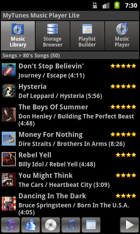 MyTunes Music Player Lite - screenshot