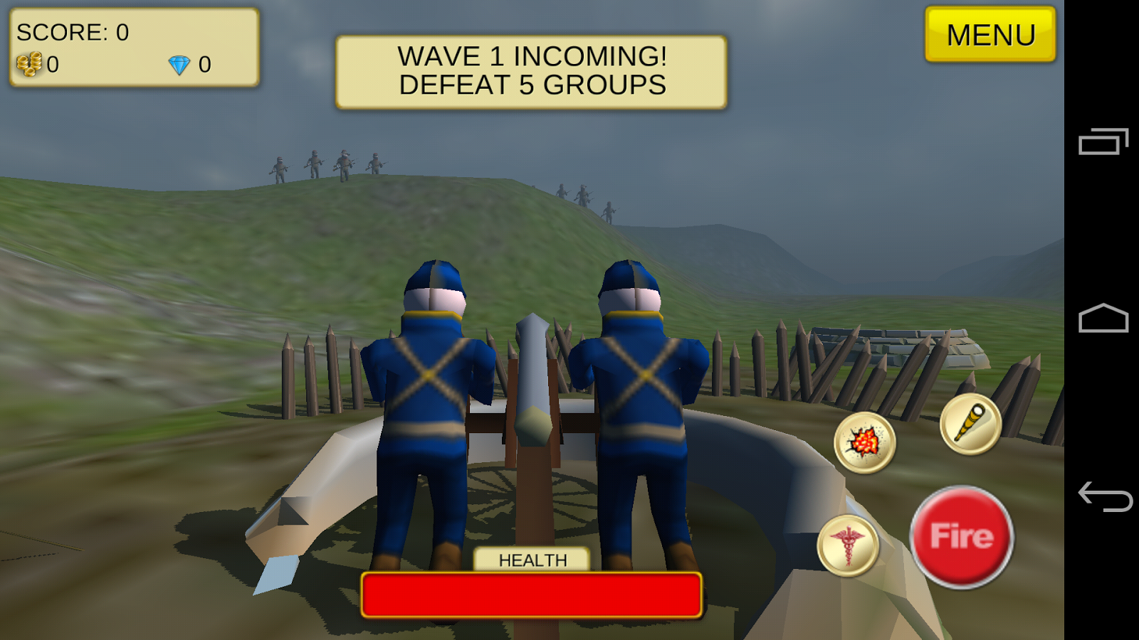 Cannon Shooter : US Civil War- screenshot