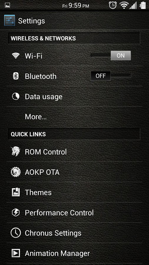 Leather White CM11/AOKP Theme - screenshot