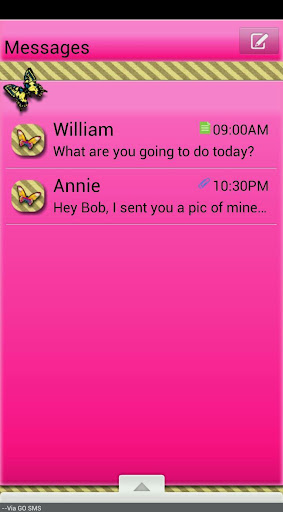 GO SMS THEME AntiqueButterfly