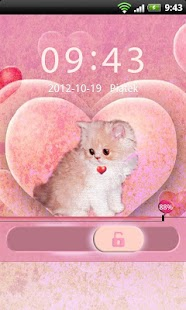 GO Locker Theme Kitty - screenshot thumbnail