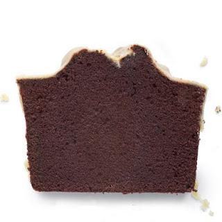 Chocolate Pound Cake with Peanut Butter Glaze.