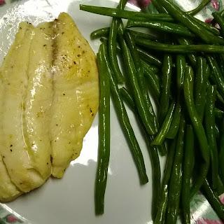 Easy Lemon Pepper Fish & Green Beans