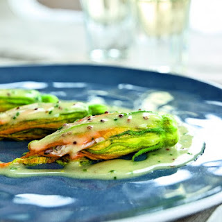 Crab-Stuffed Zucchini Flowers