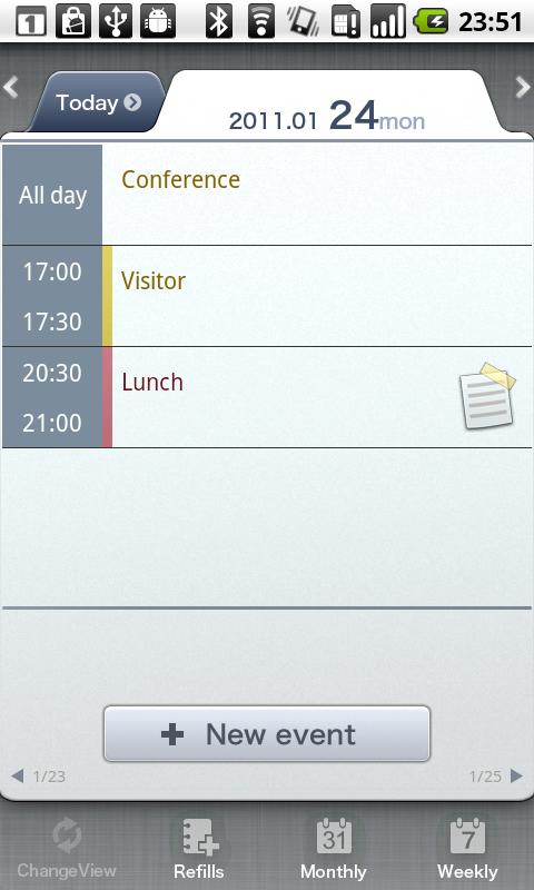 Schedule St.(Free Day Planner) - screenshot