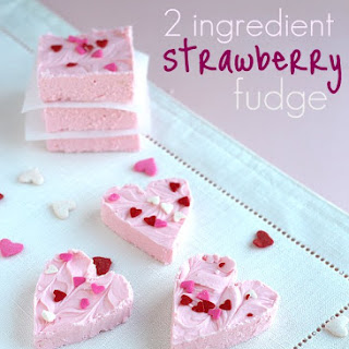 Strawberry 2 Ingredient Fudge.