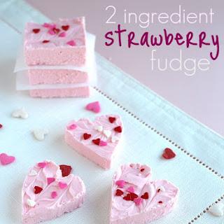 Strawberry 2 Ingredient Fudge.