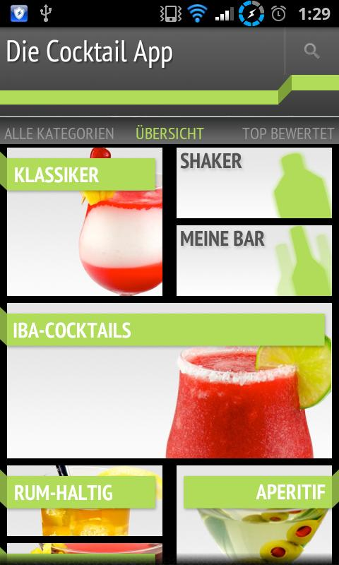 Die Cocktail App - screenshot