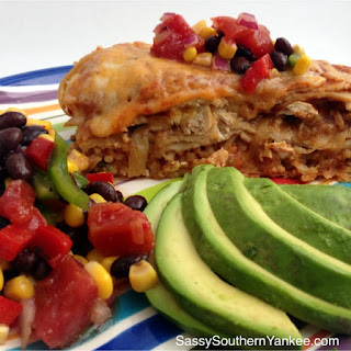 Chicken Fajita Enchilada Casserole