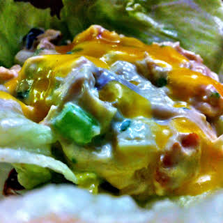 Mango Chicken Salad Lettuce Wraps.