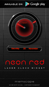Poweramp skin Neon Red v1.34