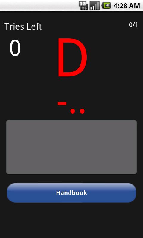 Morse Code Trainer - screenshot
