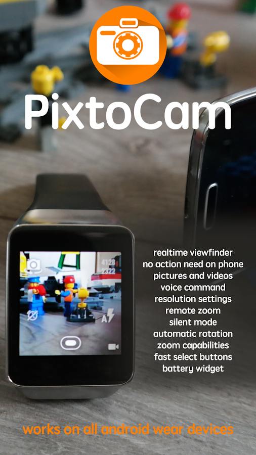 PixtoCam for Android Wear: captura de pantalla