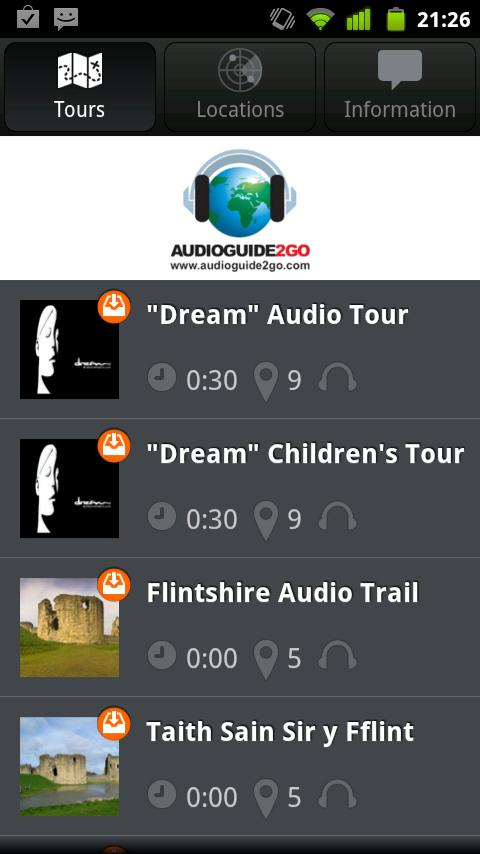 AudioGuide2Go.com - screenshot