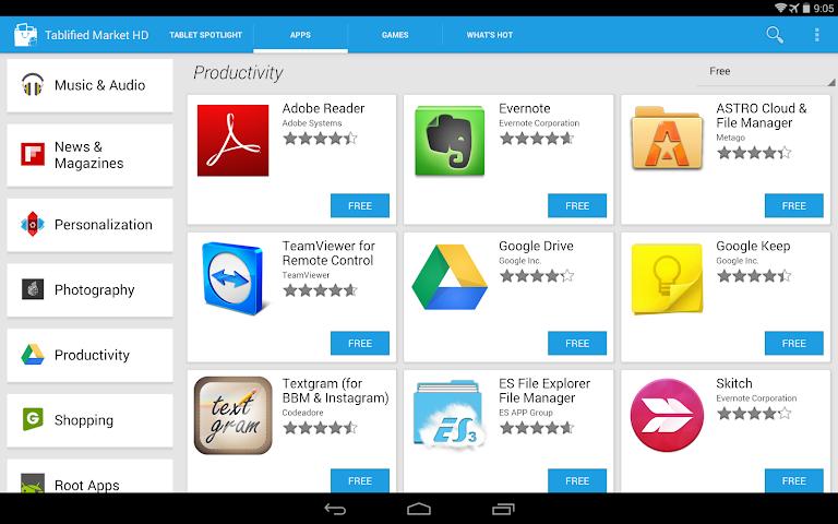 Screenshots for Tablified Market  Tablet Apps
