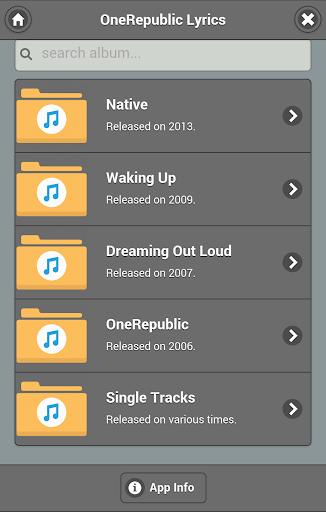 Lyrics of OneRepublic
