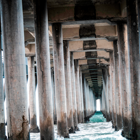 Under the Pier  by Dory Formiller - Buildings & Architecture Bridges & Suspended Structures