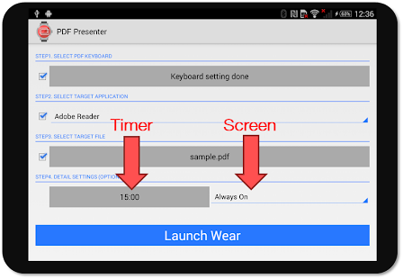 PDF Presenter for Android Wear- スクリーンショットのサムネイル