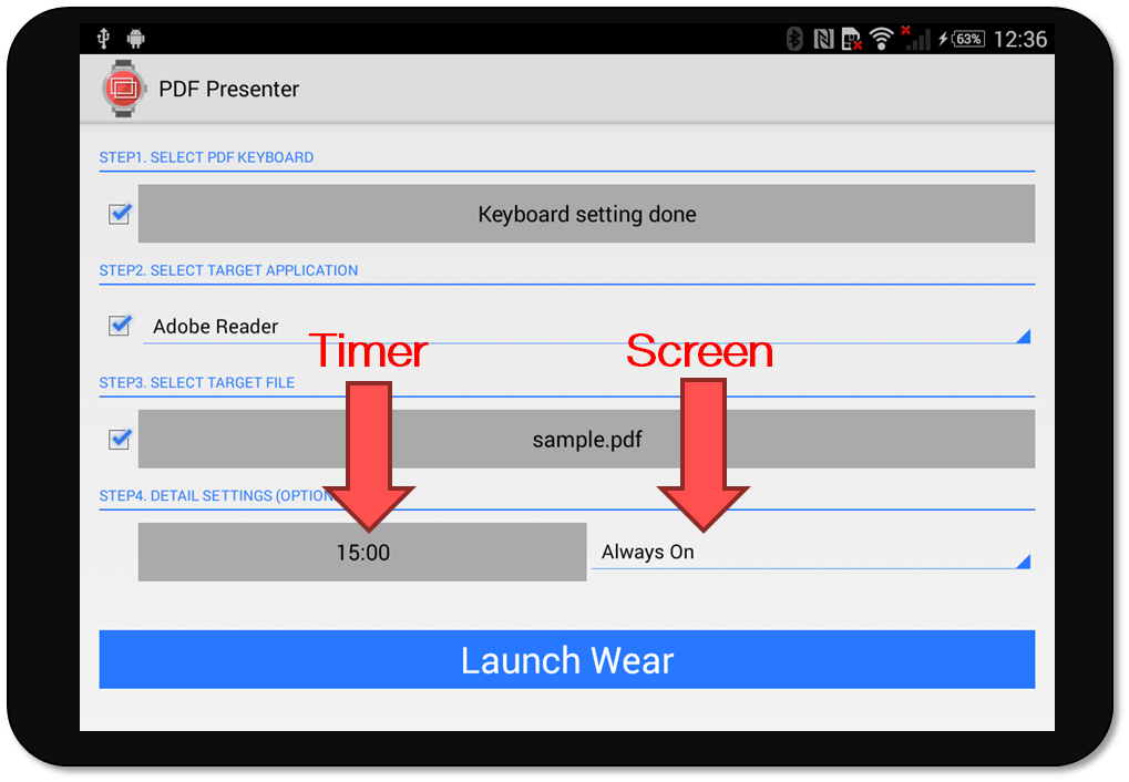PDF Presenter for Android Wear- スクリーンショット