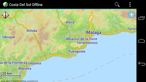 Offline Map Costa del Sol