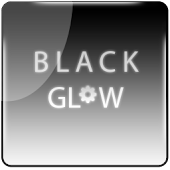 Black Glow Go Launcher Theme