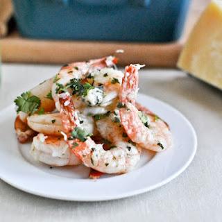 Roasted Basil Butter Parmesan Shrimp.