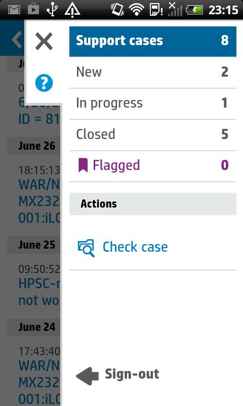 HP Enterprise Support Center - screenshot