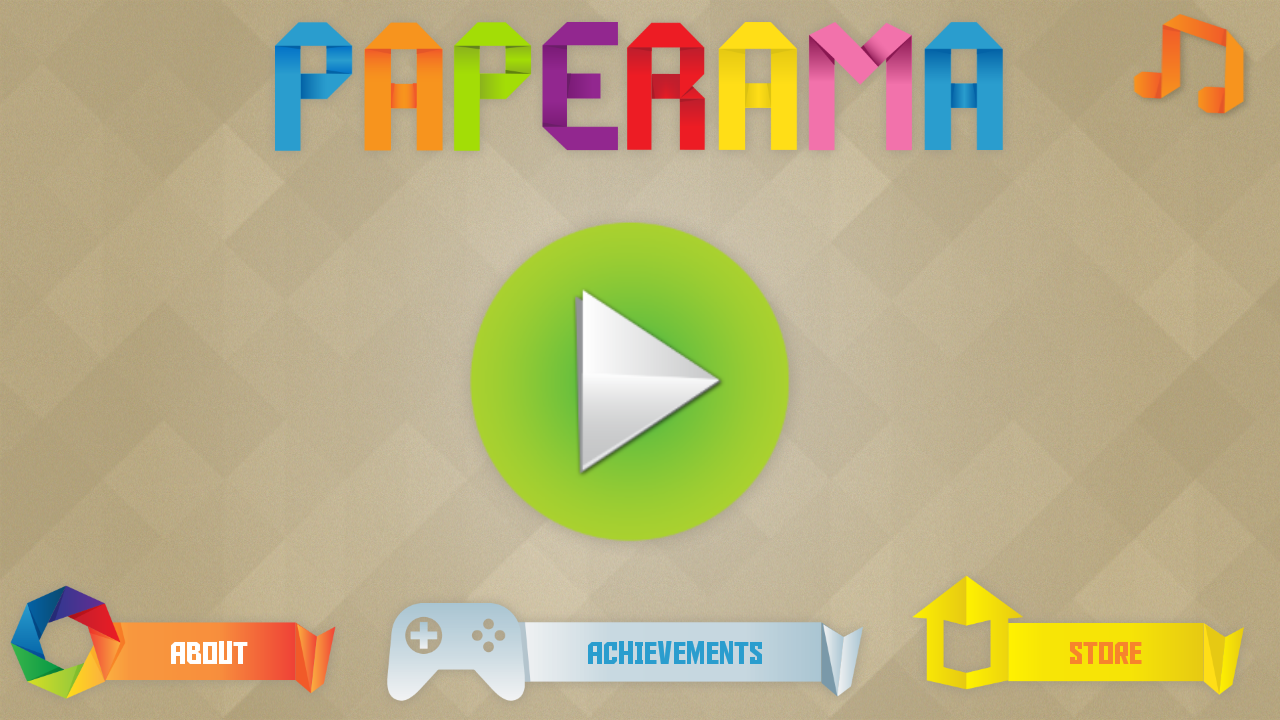 Screenshots of Paperama for iPhone