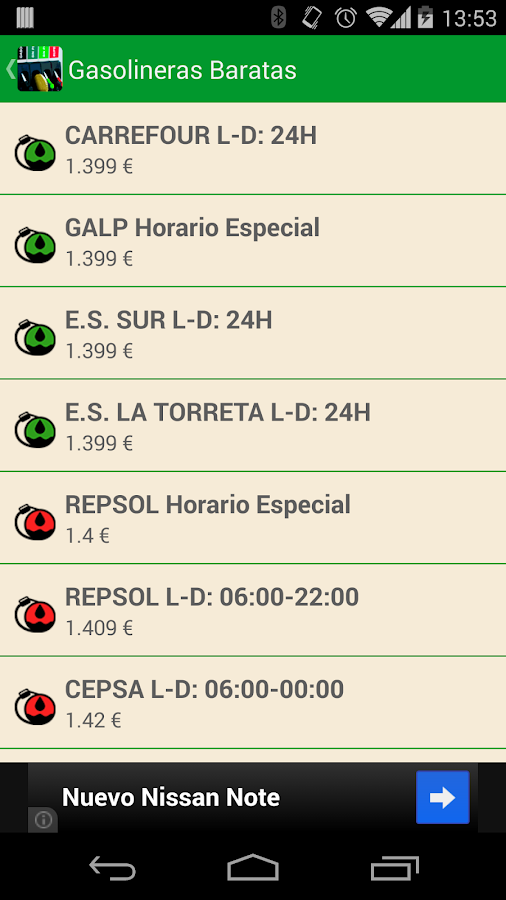 Gasolineras Baratas- screenshot
