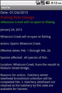 WDFW-WA Fish/Wildlife notices- screenshot thumbnail