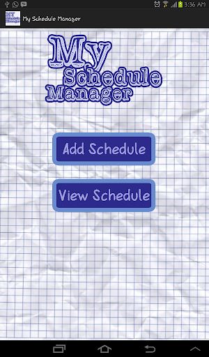 My Schedule Manager