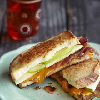 Grilled Apple, Bacon, and Cheddar Sandwiches.