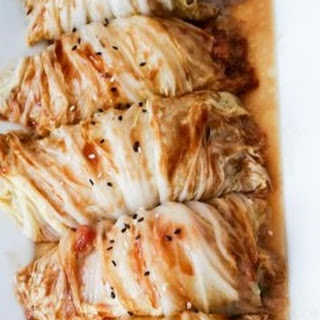 Chinese Stuffed Cabbage Rolls