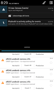Rhybudd - Zenoss for Android - screenshot thumbnail