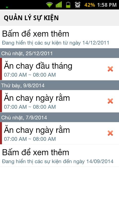 Lịch - screenshot