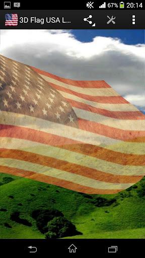玩免費生活APP|下載3D Flag USA LWP app不用錢|硬是要APP
