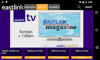 Screenshot of Eastlink To Go